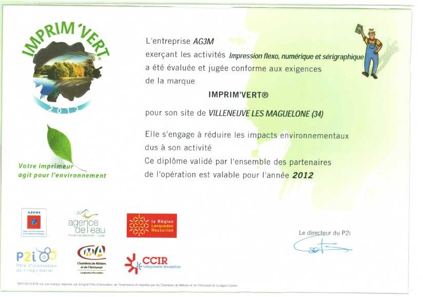 label AG3M imprimvert 2012